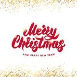 Het vrolijke gelukkige nieuwe jaar van Kerstmis Stock Afbeeldingen