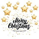 Het vrolijke gelukkige nieuwe jaar van Kerstmis Royalty-vrije Stock Afbeelding