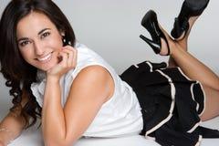 Het vrolijke Glimlachen van de Vrouw Stock Foto's