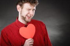 Het vrolijke hart van de mensenholding Royalty-vrije Stock Afbeelding
