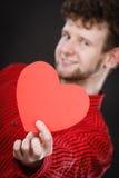 Het vrolijke hart van de mensenholding Royalty-vrije Stock Fotografie