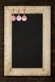 Het vrolijke het Bordbord van Kerstmisnieuwjaren won Houten F terug Stock Afbeeldingen