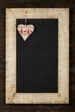 Het vrolijke het Bordbord van Kerstmisnieuwjaren won Houten F terug Royalty-vrije Stock Foto