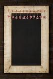 Het vrolijke het Bordbord van Kerstmisnieuwjaren won Houten F terug Stock Afbeelding