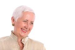 Het vrolijke Hogere Lachen van de Vrouw royalty-vrije stock foto's