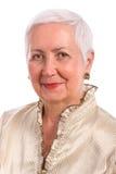 Het vrolijke Hogere Portret van de Vrouw stock foto's