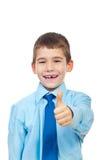 Het vrolijke jonge geitje geeft duimen Royalty-vrije Stock Foto's
