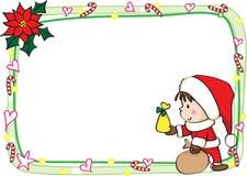 Het vrolijke kader van de Kerstkaartgrens Royalty-vrije Stock Fotografie
