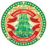 Het vrolijke kenteken van Kerstmis Royalty-vrije Stock Afbeeldingen