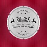 Het vrolijke kenteken van Kerstmis Royalty-vrije Stock Fotografie