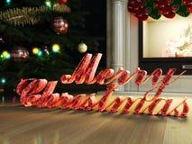 Het vrolijke Kerstmis 3d teruggeven Royalty-vrije Stock Foto