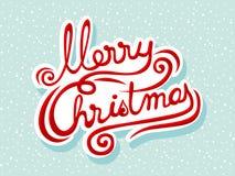 Het vrolijke Kerstmis van letters voorzien Royalty-vrije Stock Foto