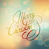 Het vrolijke Kerstmis Vector Van letters voorzien Retro ontwerp Stock Foto's