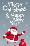 Het vrolijke malplaatje van het Kerstmis vector van letters voorziende ontwerp stock illustratie