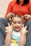 Het vrolijke meisje Royalty-vrije Stock Afbeeldingen