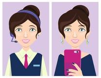 Het vrolijke meisjesleven stock illustratie