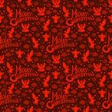 Het vrolijke naadloze patroon van Kerstmis Royalty-vrije Stock Afbeelding