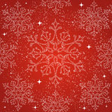 Het vrolijke naadloze patroon van Kerstmissneeuwvlokken backgr Stock Foto