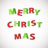 Het vrolijke ontwerp van de de groetkaart van de Kerstmisviering met mooie teksten en grote snor op sneeuwvlok verfraaide achterg Stock Foto's