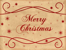 Het vrolijke oude document van Kerstmis Stock Afbeeldingen