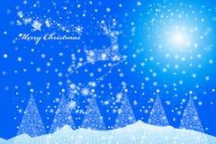 Het vrolijke pictogram van het Kerstmisrendier van een sneeuwvlokontwerp - illustratie eps10 Royalty-vrije Stock Afbeeldingen