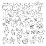 Het vrolijke pictogram van Kerstmis Stock Afbeeldingen
