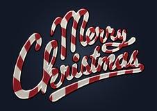 Het vrolijke riet van het Kerstmissuikergoed royalty-vrije illustratie