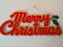 Het vrolijke teken van Kerstmis stock afbeeldingen