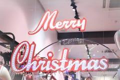 Het vrolijke teken van Kerstmis Stock Afbeelding
