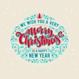 Het vrolijke van letters voorzien van Kerstmis Stock Afbeeldingen