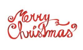 Het vrolijke van letters voorzien van Kerstmis Stock Foto's