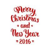 Het vrolijke van letters voorzien van Kerstmis Stock Foto