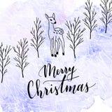 Het vrolijke van letters voorzien van Kerstmis Royalty-vrije Stock Fotografie