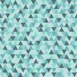 Het vrolijke vectorpatroon van de Kerstmisdriehoek, de blauwe grijze geometrische achtergrond van de de wintervakantie Royalty-vrije Stock Fotografie
