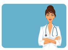 Het vrouwelijke arts glimlachen Stock Foto