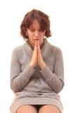 Het vrouwelijke bidden. royalty-vrije stock afbeelding
