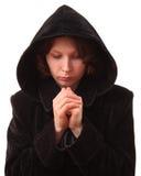 Het vrouwelijke bidden. stock fotografie