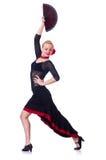 Het vrouwelijke danser dansen Stock Foto