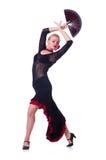 Het vrouwelijke danser dansen Royalty-vrije Stock Afbeeldingen