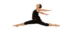 Het vrouwelijke danser dansen Stock Afbeelding