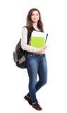 Het vrouwelijke de student van Nice glimlachen Stock Afbeeldingen