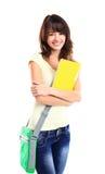 Het vrouwelijke de student van Nice glimlachen royalty-vrije stock foto's