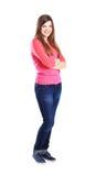 Het vrouwelijke de student van Nice glimlachen stock foto