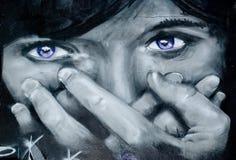 Het vrouwelijke gezicht van Graffity stock afbeeldingen