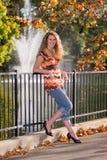 Het vrouwelijke Hogere Portret van de Middelbare school Stock Fotografie