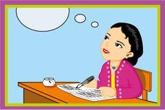 Het vrouwelijke leraar schrijven royalty-vrije stock afbeeldingen