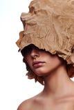 Het vrouwelijke Model van de manierschoonheid met glanzende Huid royalty-vrije stock foto's