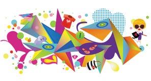 Het vrouwelijke patroon van de manierontwerper vector illustratie