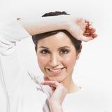 Het vrouwelijke Stellen Stock Fotografie