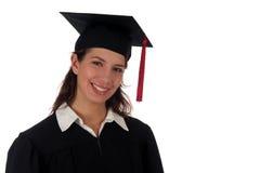 Het vrouwelijke student een diploma behalen Royalty-vrije Stock Foto's